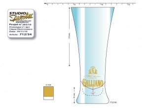 Cocktail glass for Galliano