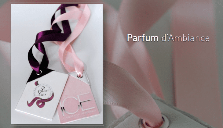 Presentation of Parfum d'Ambiance - personal brand name fragrances for in your car.