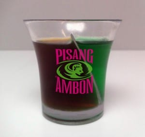 Mix shot glass for Pisang Ambon