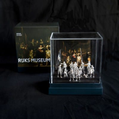 Sterling Silver 3d cast of Rembrandt's famous Night Watch